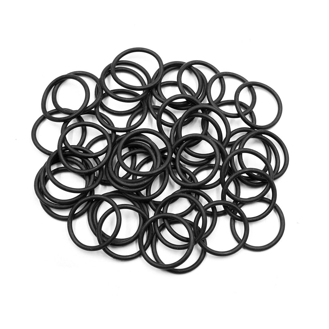 50pcs Black Universal Nitrile Rubber O-Ring Seals Gasket for Car 32.5 x 3.55mm