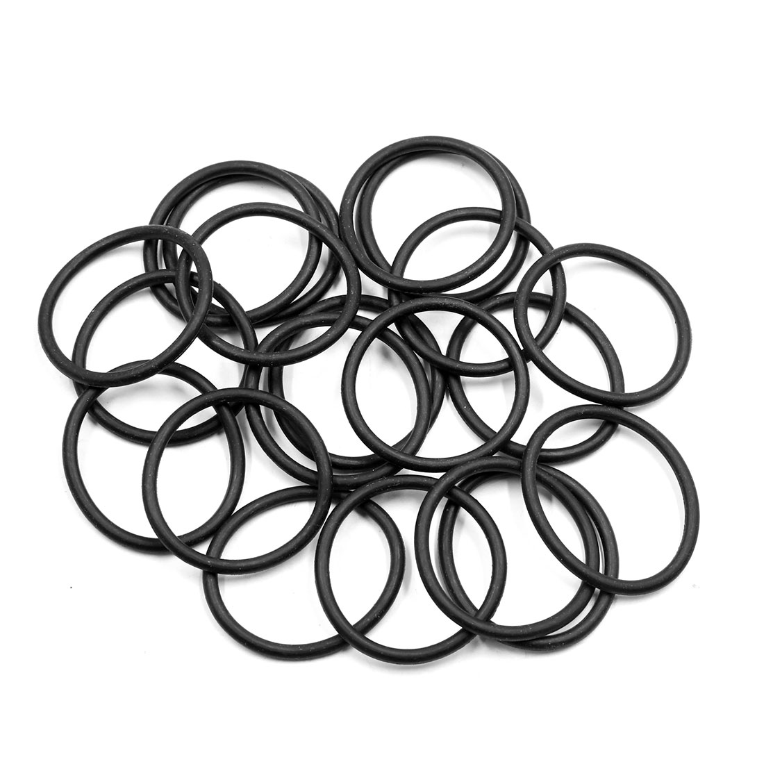 20pcs Black Universal Nitrile Rubber O-Ring Seals Gasket for Car 38.7 x 3.55mm