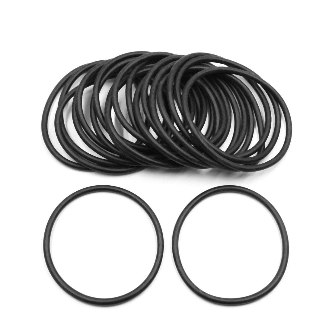 20pcs Black Universal Nitrile Rubber O-Ring Seals Gasket for Car 60 x 3.55mm