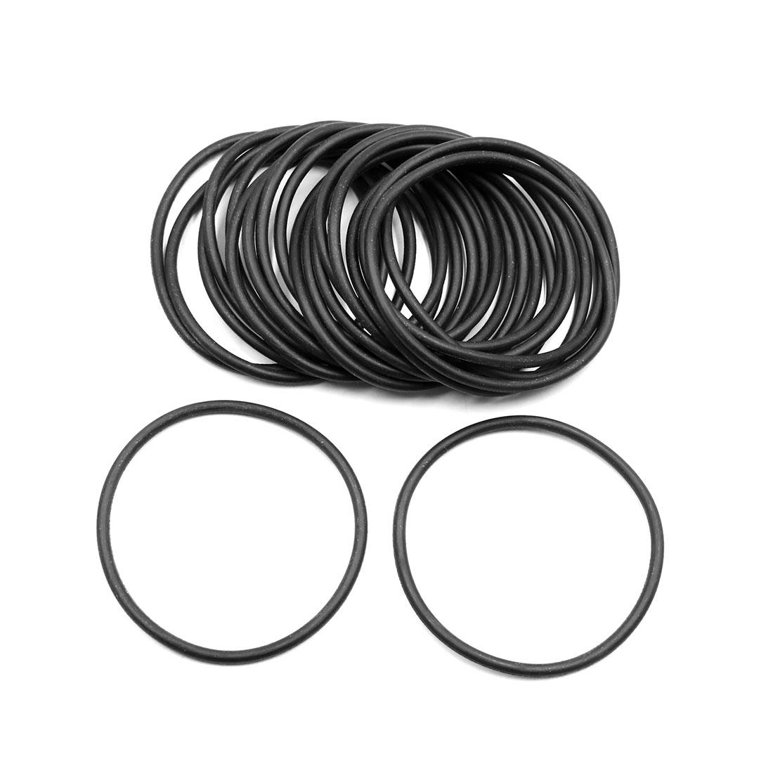 20pcs Black Universal Nitrile Rubber O-Ring Seals Gasket for Car 67 x 3.55mm