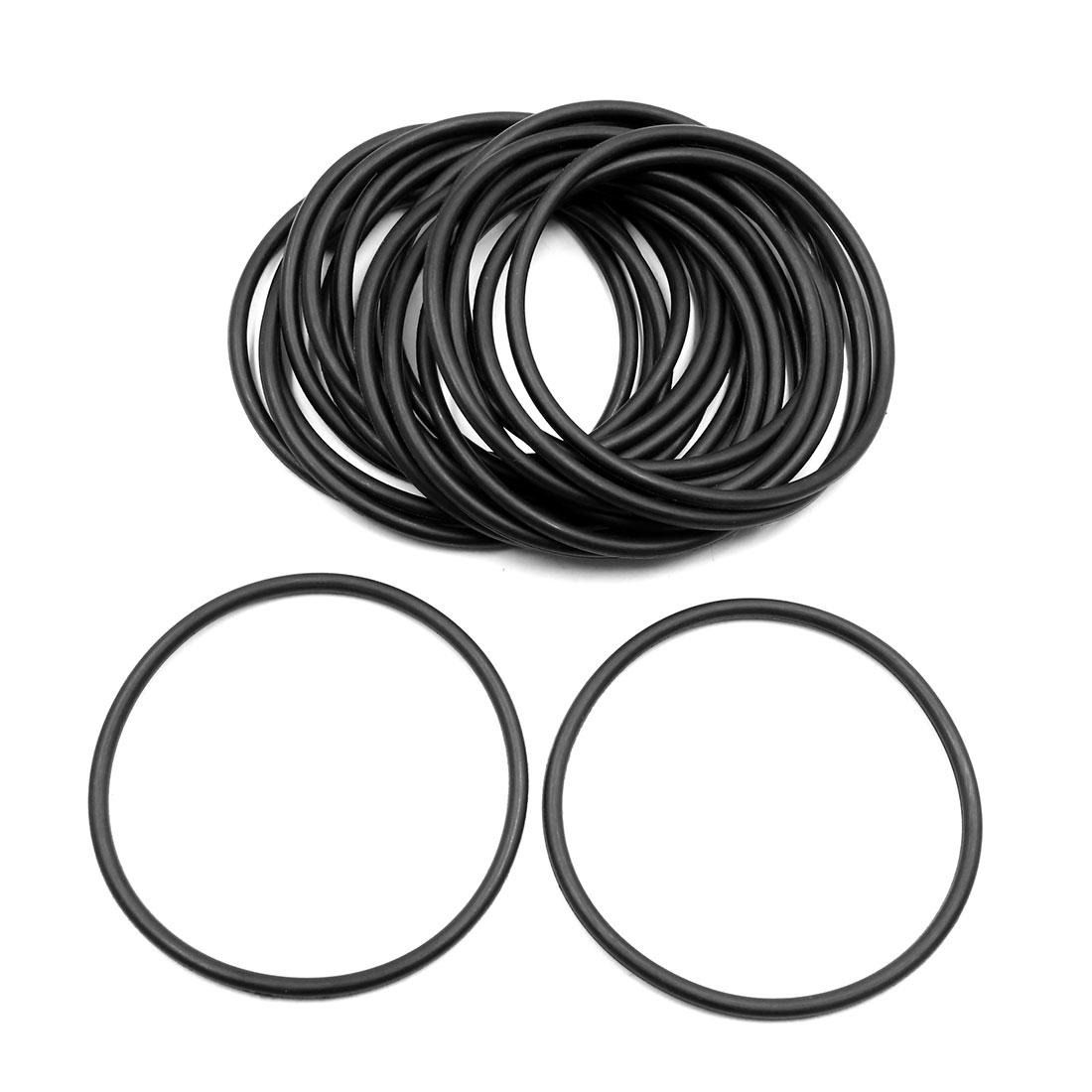 20pcs Black Universal Nitrile Rubber O-Ring Seals Gasket for Car 69 x 3.55mm