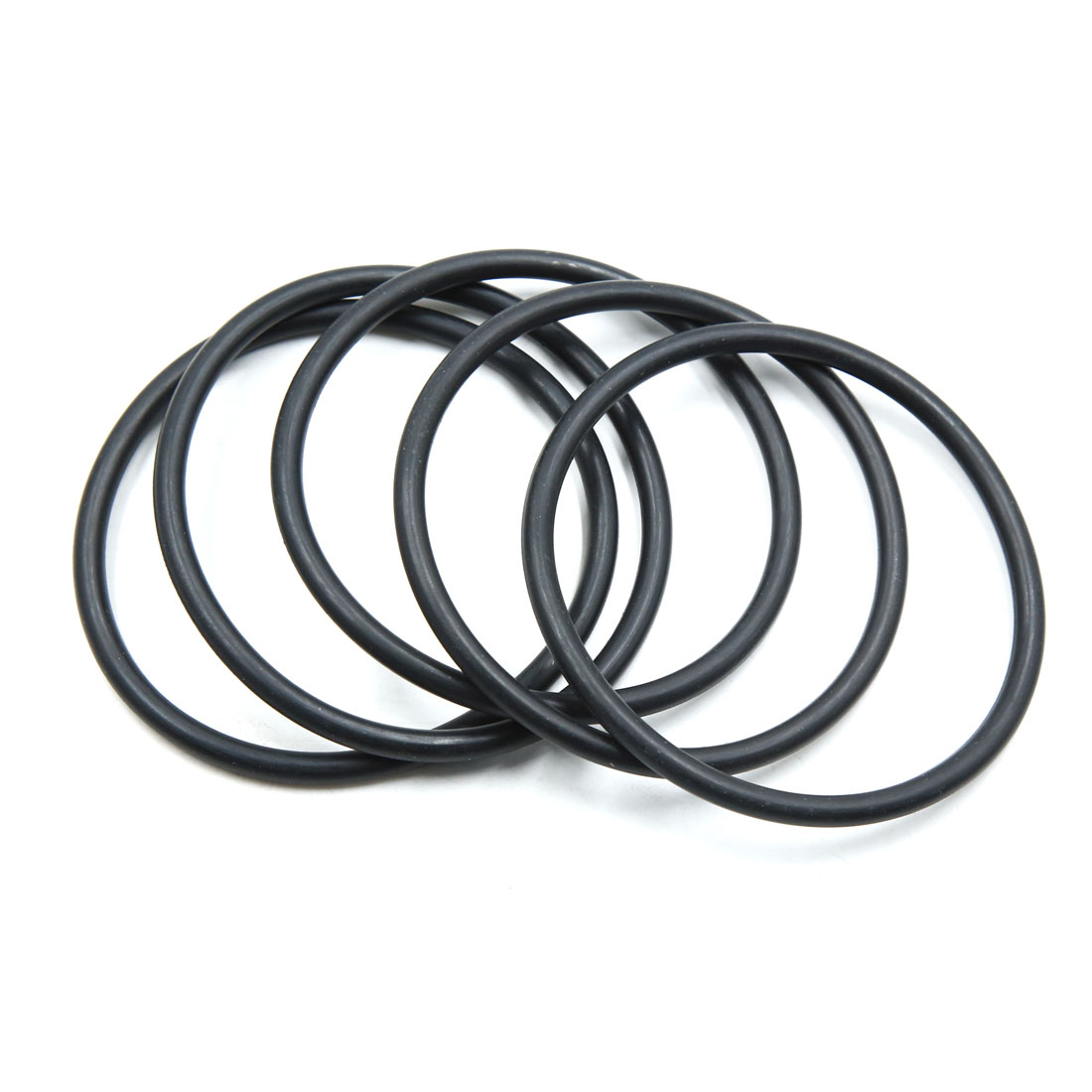 5pcs Black NBR O-Ring Seal Gasket Washer for Automotive Car 80mm x 5.3mm