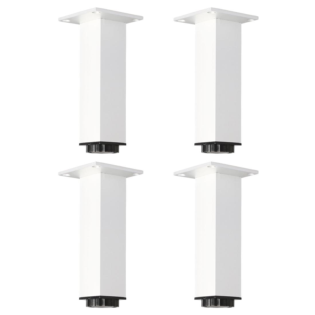 "6"" Furniture Leg Aluminium Alloy Sofa Feet Replacement Height Adjuster 4pcs"
