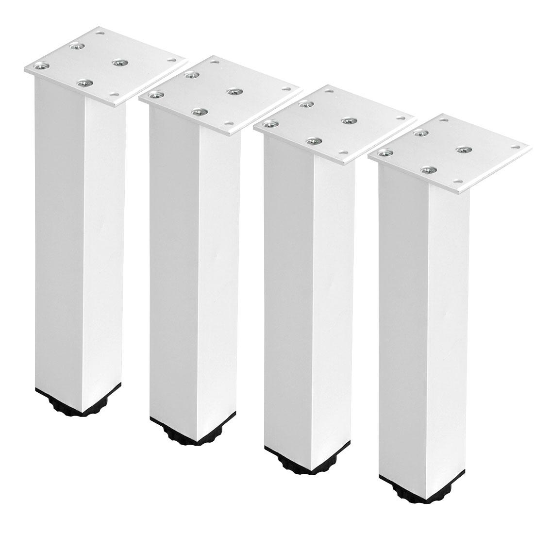 "10"" Furniture Leg Aluminium Alloy Sofa Feet Replacement Height Adjuster 4pcs"