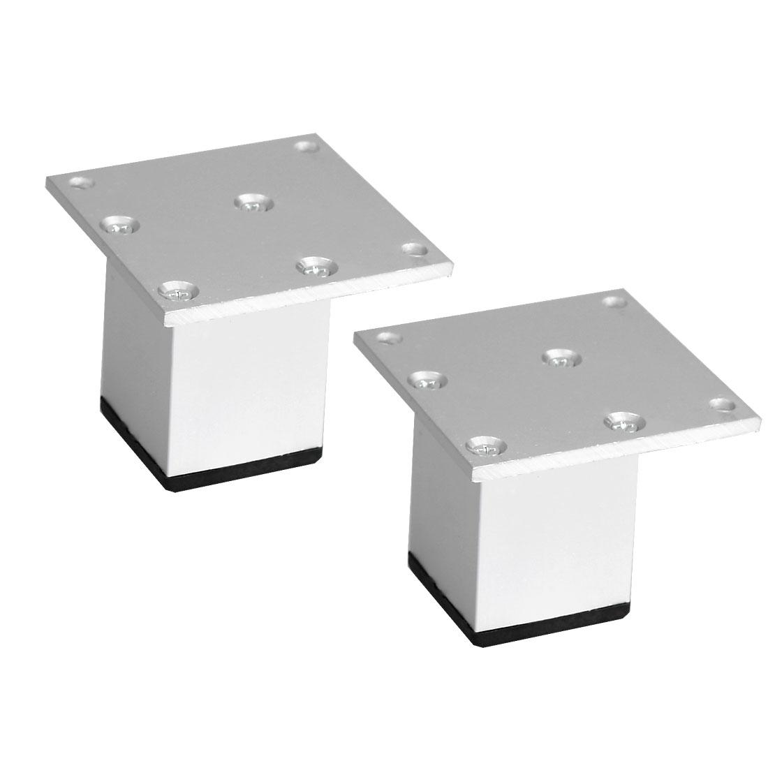 "2"" Furniture Legs Aluminium Alloy Table Feet Replacement Height Adjuster 2pcs"