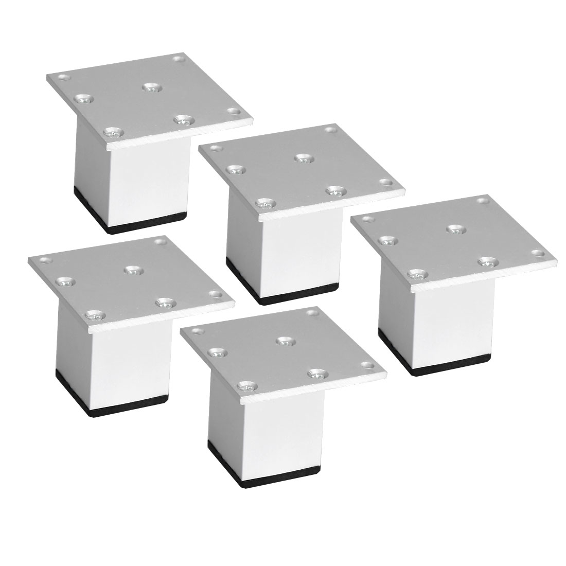 "2"" Furniture Legs Aluminium Alloy Table Feet Replacement Height Adjuster 5pcs"