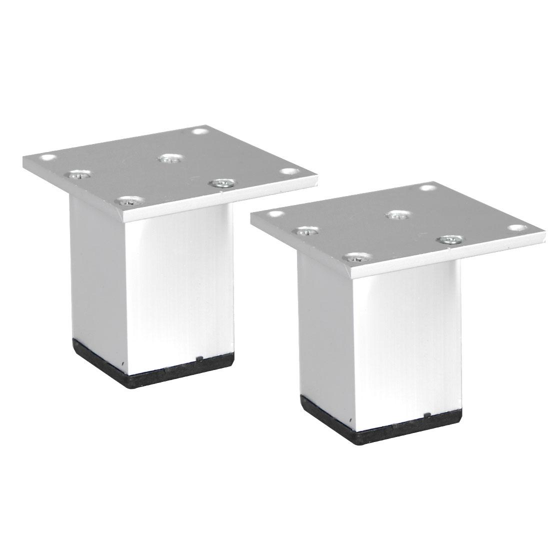 "2.4"" Furniture Legs Aluminium Alloy Table Feet Replacement Height Adjuster 2pcs"