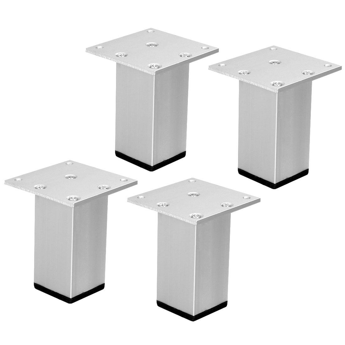 "3"" Furniture Legs Aluminium Alloy Table Feet Replacement Height Adjuster 4pcs"