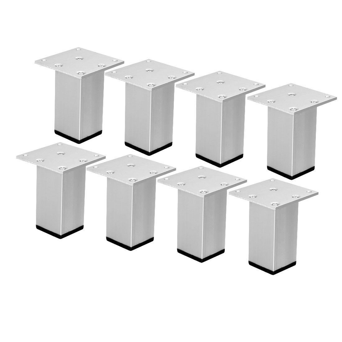 "3"" Furniture Legs Aluminium Alloy Table Feet Replacement Height Adjuster 8pcs"