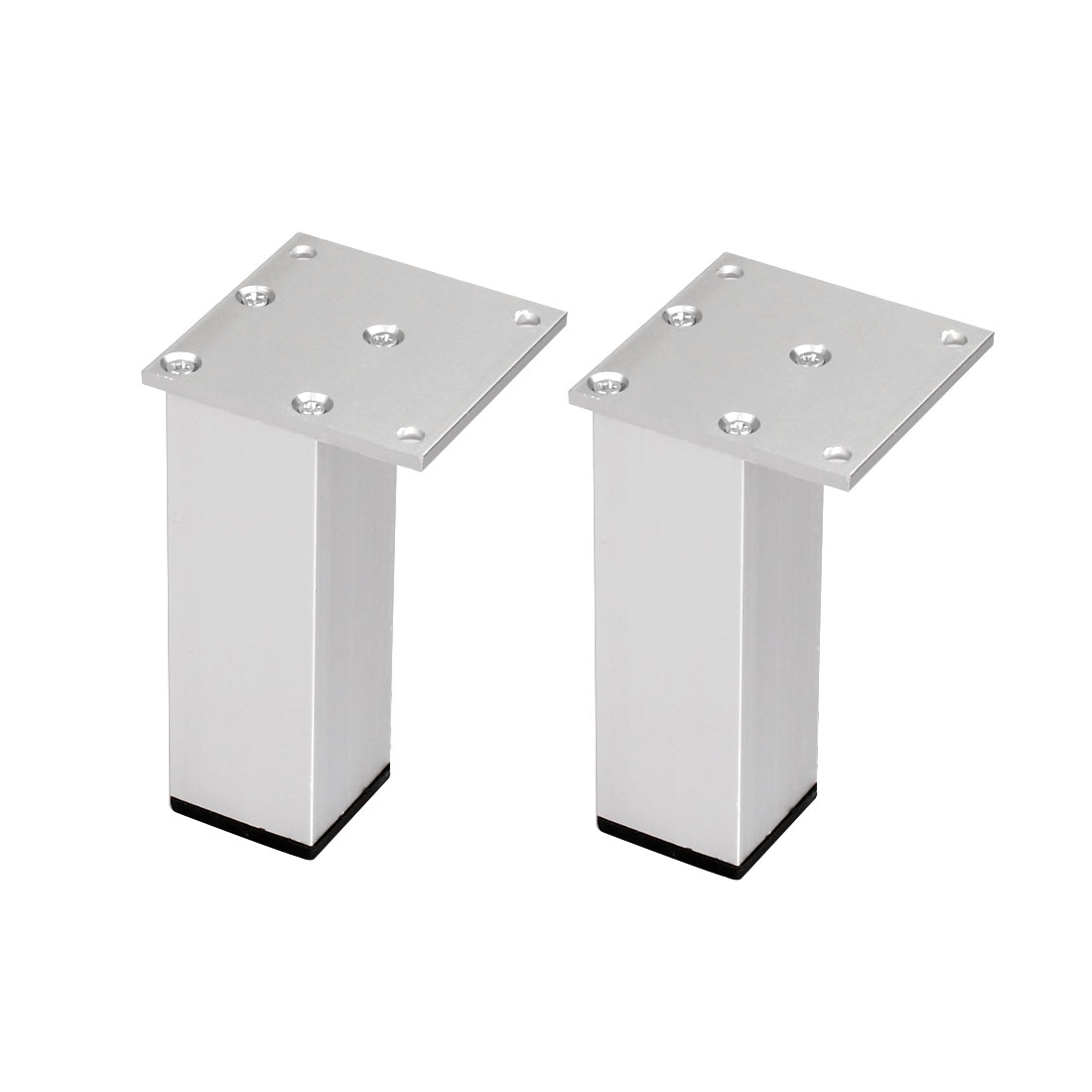 "4"" Furniture Legs Aluminium Alloy Table Feet Replacement Height Adjuster 2pcs"