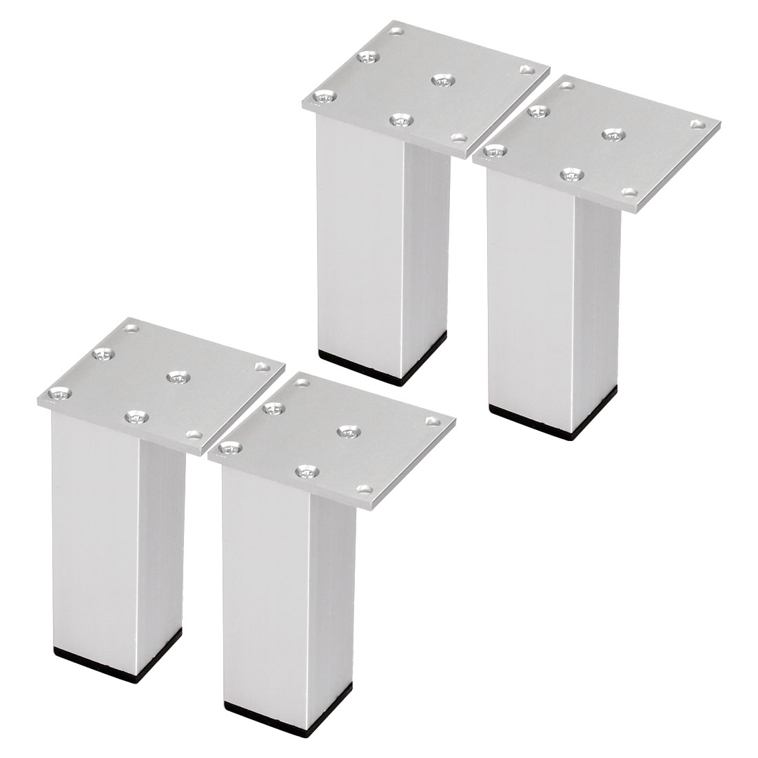 "4"" Furniture Legs Aluminium Alloy Table Feet Replacement Height Adjuster 4pcs"