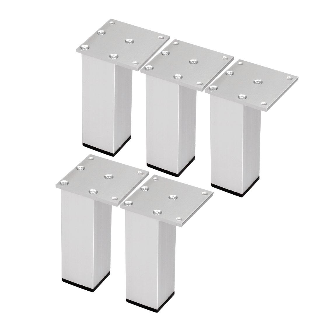 "4"" Furniture Legs Aluminium Alloy Table Feet Replacement Height Adjuster 5pcs"