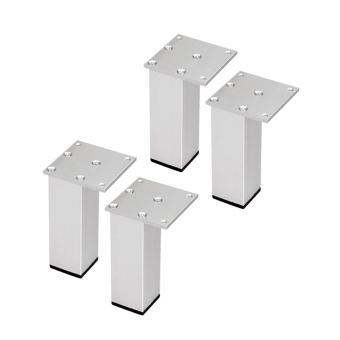 "5"" Furniture Legs Aluminium Alloy Table Feet Replacement Height Adjuster 4pcs"