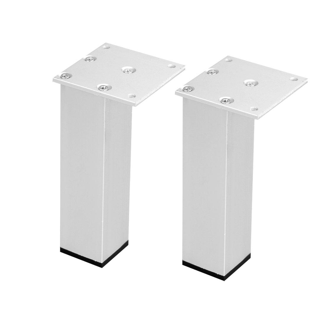 "6"" Furniture Legs Aluminium Alloy Table Feet Replacement Height Adjuster 2pcs"