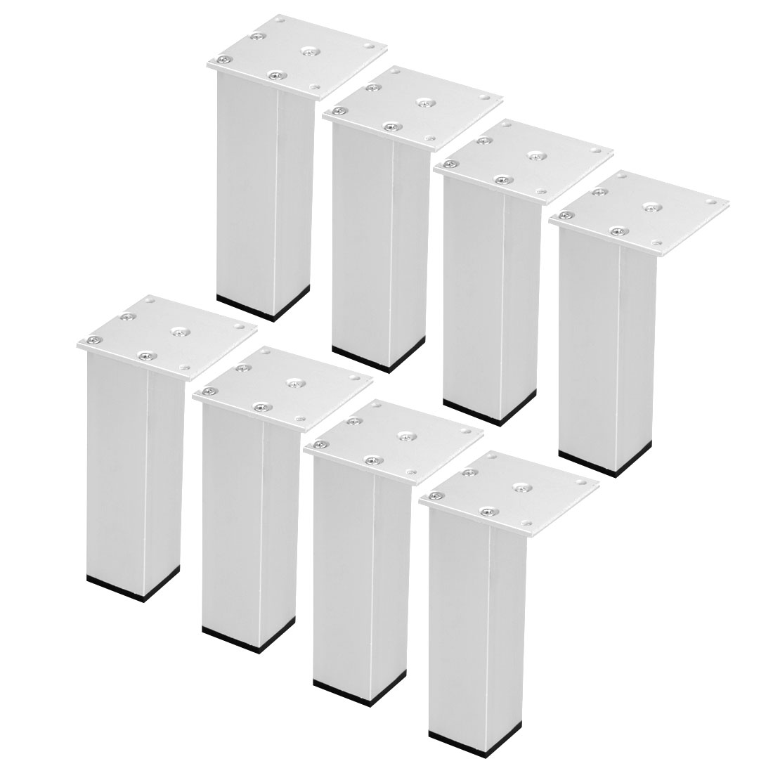 "6"" Furniture Legs Aluminium Alloy Table Feet Replacement Height Adjuster 8pcs"