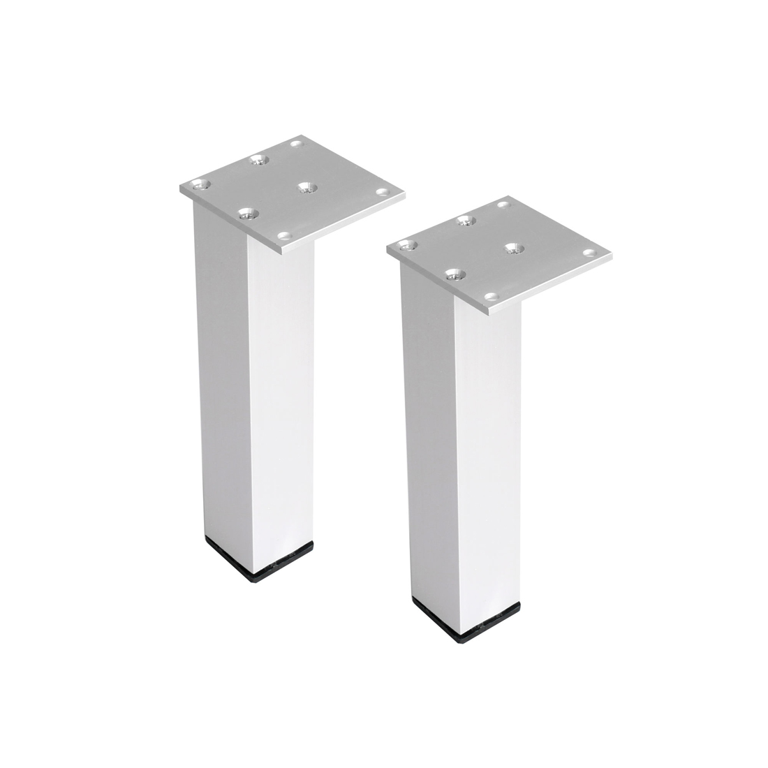 "8"" Furniture Legs Aluminium Alloy Table Feet Replacement Height Adjuster 2pcs"