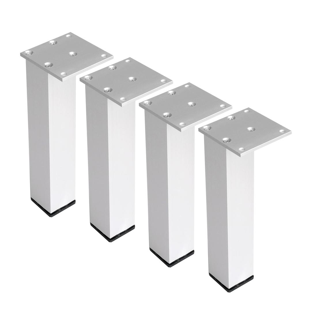 "8"" Furniture Legs Aluminium Alloy Table Feet Replacement Height Adjuster 4pcs"