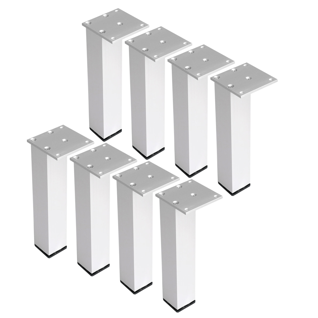 "8"" Furniture Legs Aluminium Alloy Table Feet Replacement Height Adjuster 8pcs"