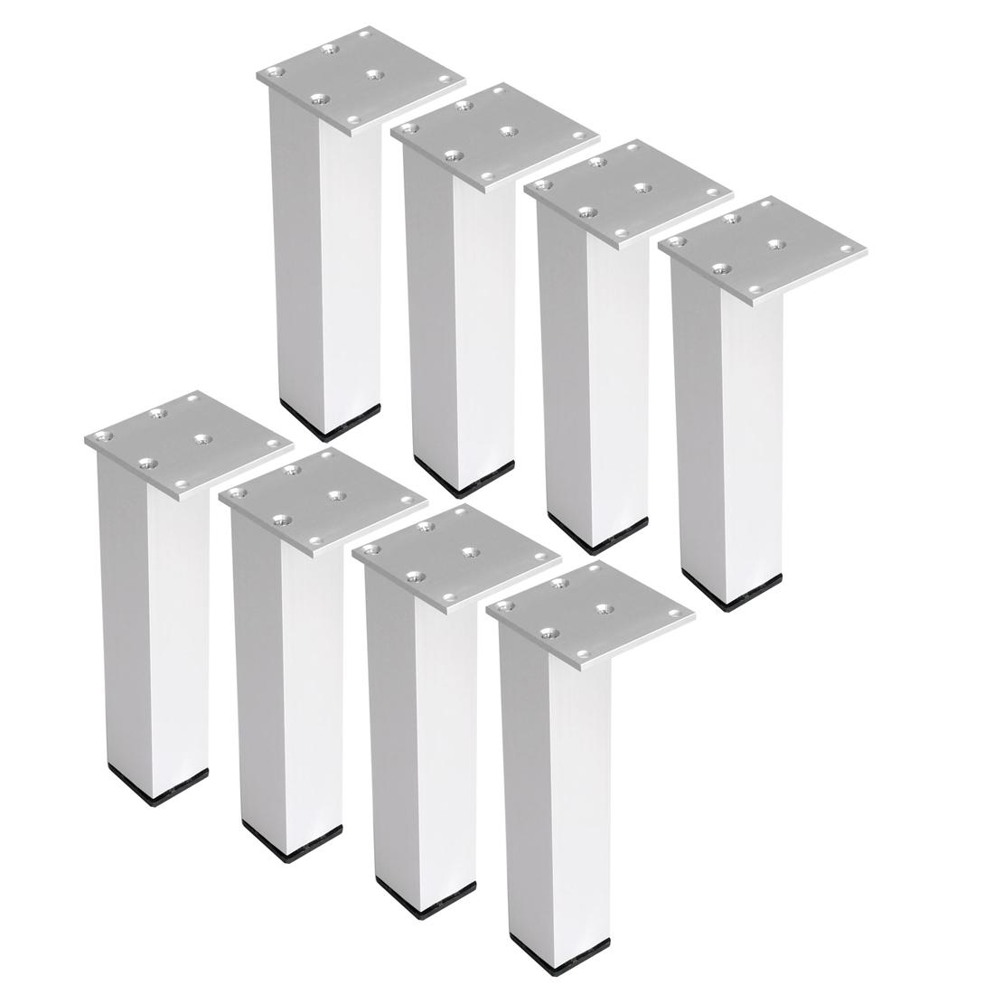 "8"" Furniture Legs Aluminium Alloy Table Feet Replacement Height Adjuster 8pcs"