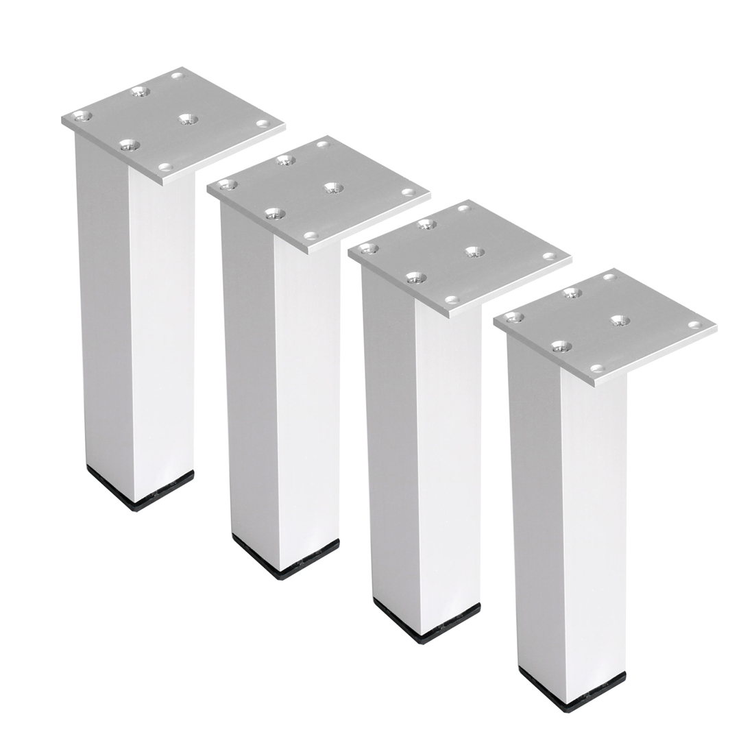 "10"" Furniture Legs Aluminium Alloy Table Feet Replacement Height Adjuster 4pcs"