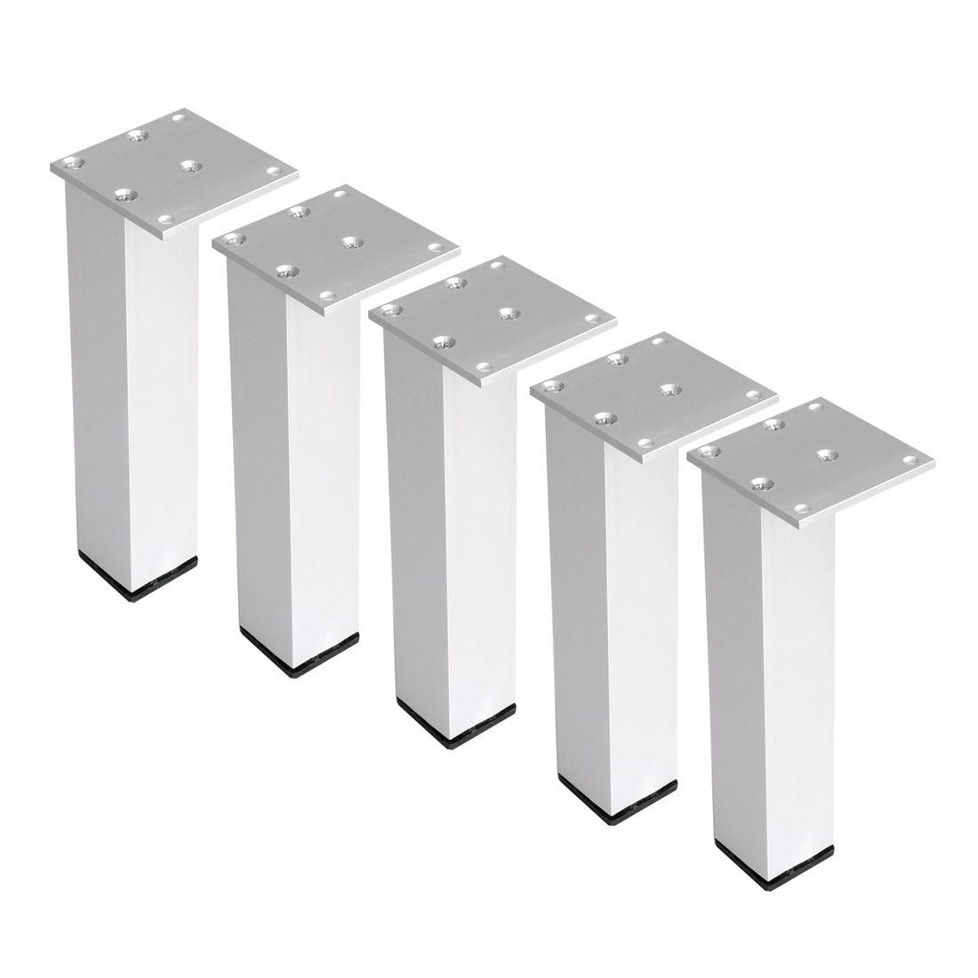 "10"" Furniture Legs Aluminium Alloy Table Feet Replacement Height Adjuster 5pcs"