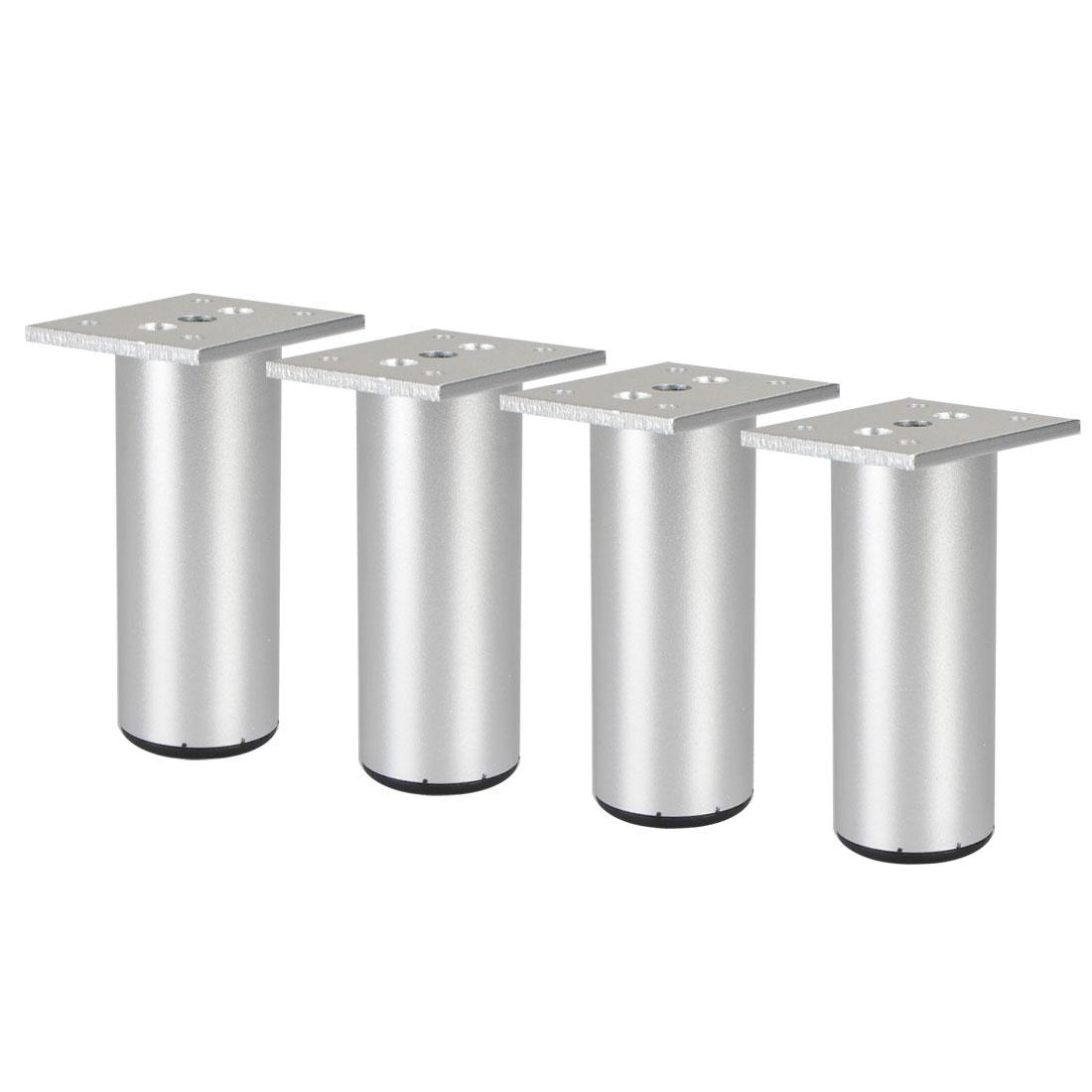 "4"" Furniture Legs Aluminium Alloy Sofa Table Replacement Height Adjuster 4pcs"