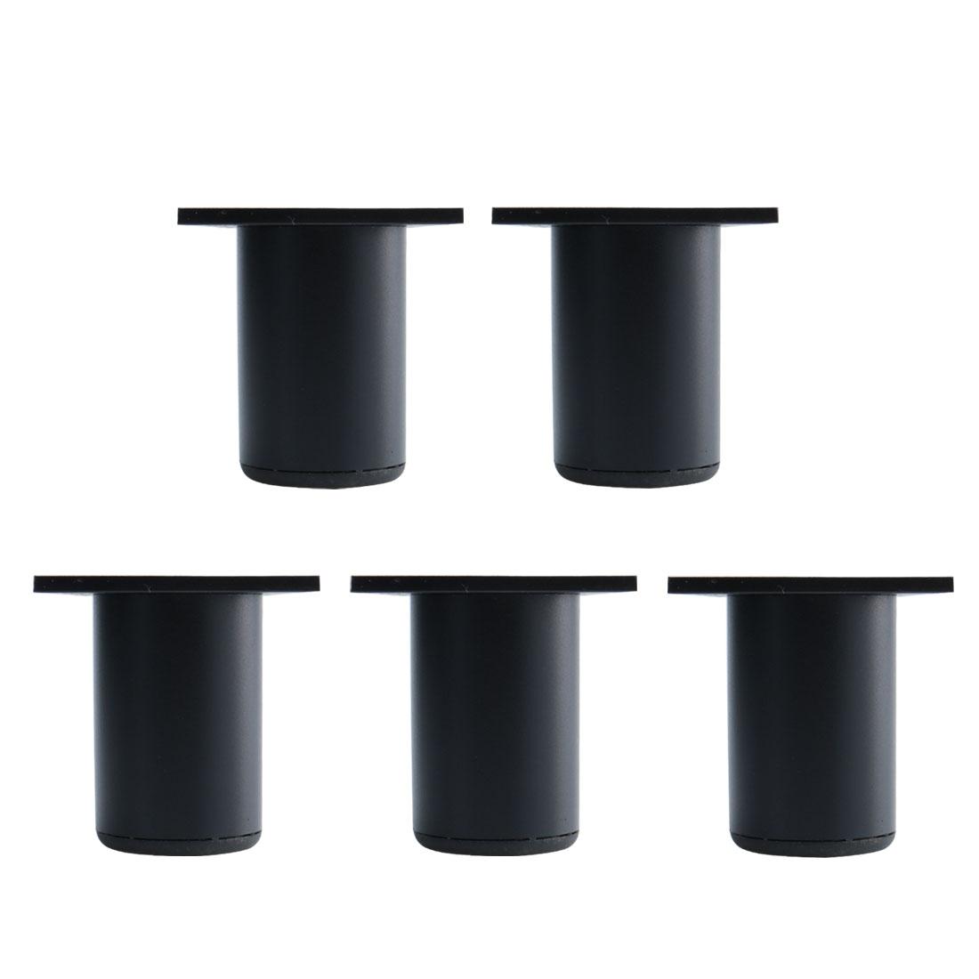 """2.4"""" Furniture Legs Aluminium Alloy Sofa Replacement Height Adjuster Black 5pcs"""