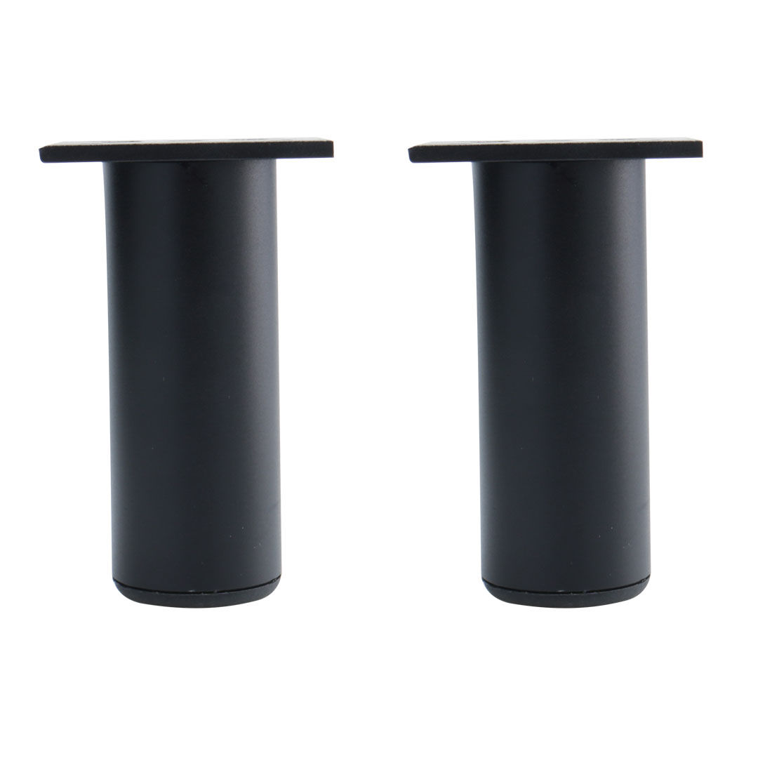 "4"" Furniture Legs Aluminium Alloy Sofa Replacement Height Adjuster Black 2pcs"