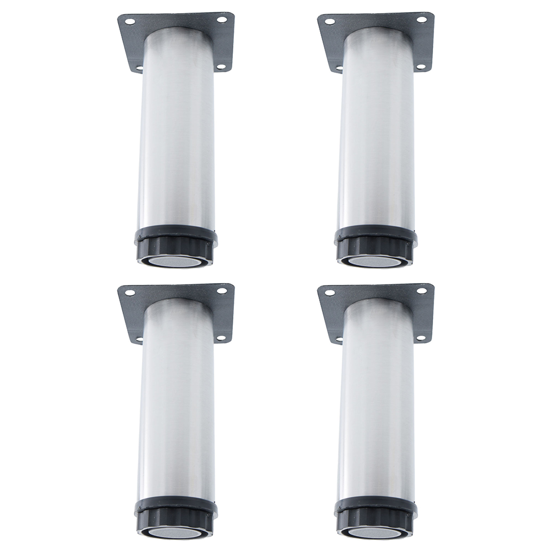 """5"""" Furniture Legs Stainless Steel Sofa Table Adjustable Feet Replacement 4pcs"""