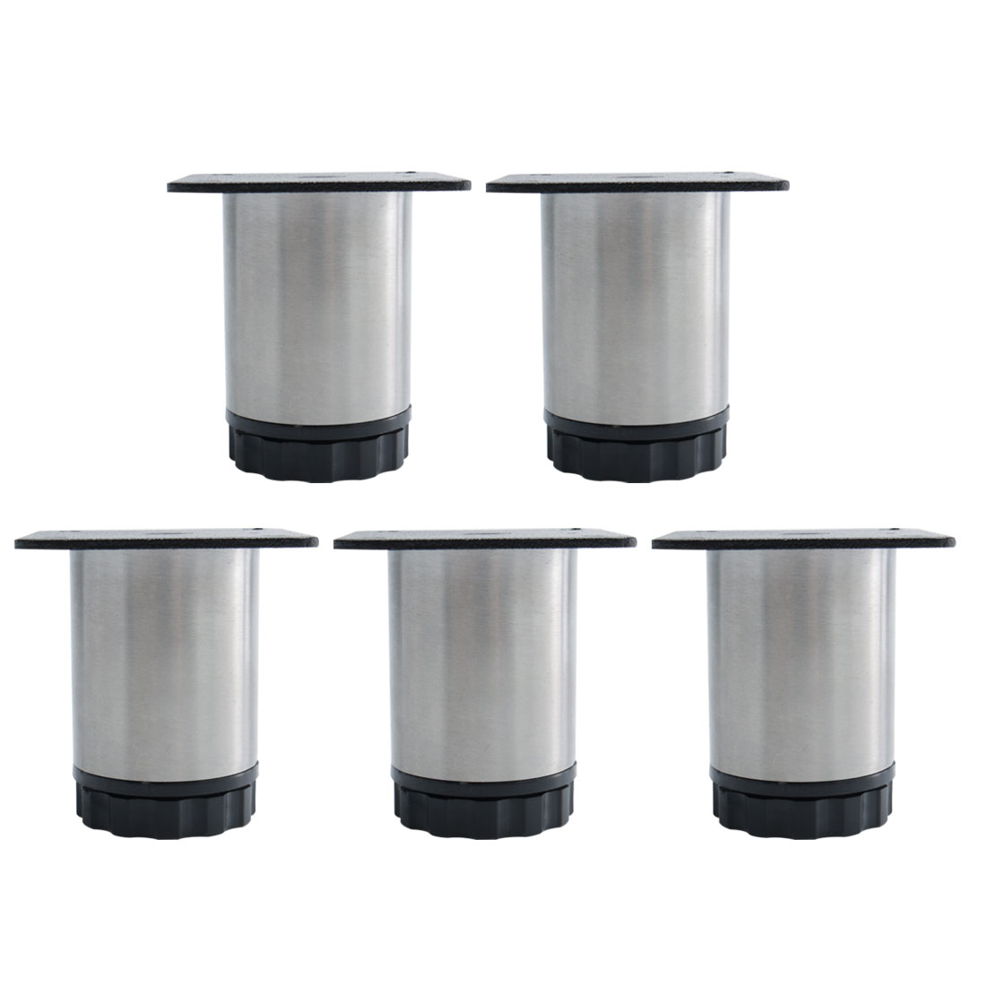 """2.4"""" Furniture Legs Stainless Steel Sofa Table Adjustable Feet Replacement 5pcs"""