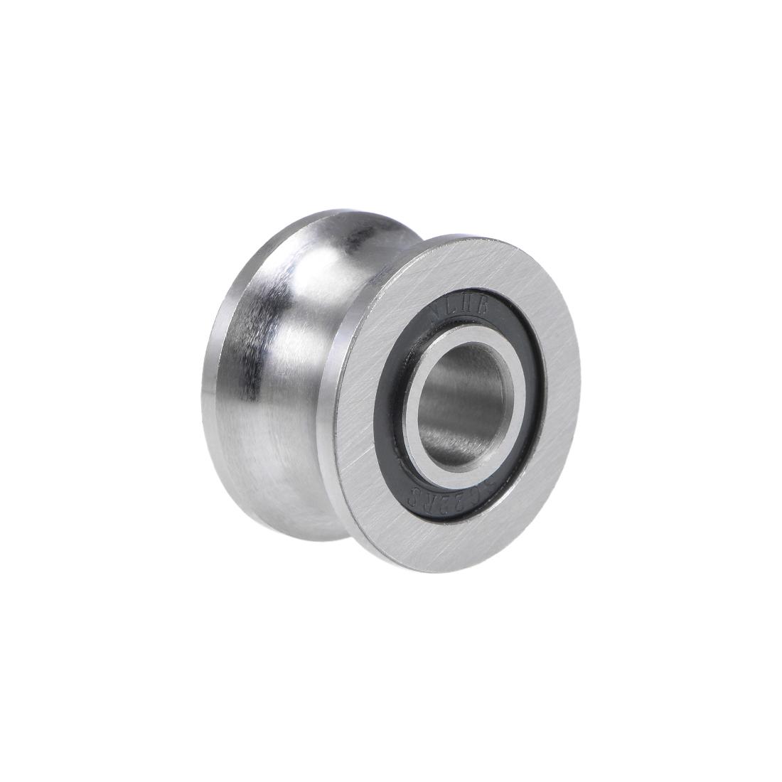 U22 U-Groove Ball Bearing 8x22.5x13.5mm Guide Pulley Bearings for 12mm Shaft