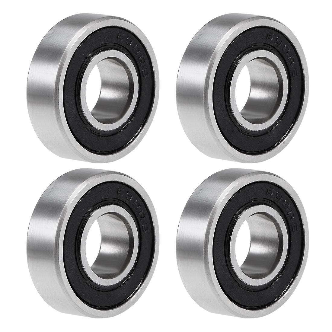698-2RS Deep Groove Ball Bearing 8x19x6mm Double Sealed Chrome Bearings 4pcs