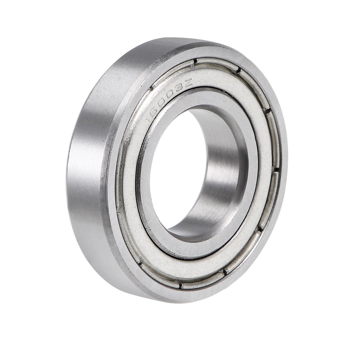 16003ZZ Deep Groove Ball Bearing 17x35x8mm Double Shielded Chrome Steel Bearings