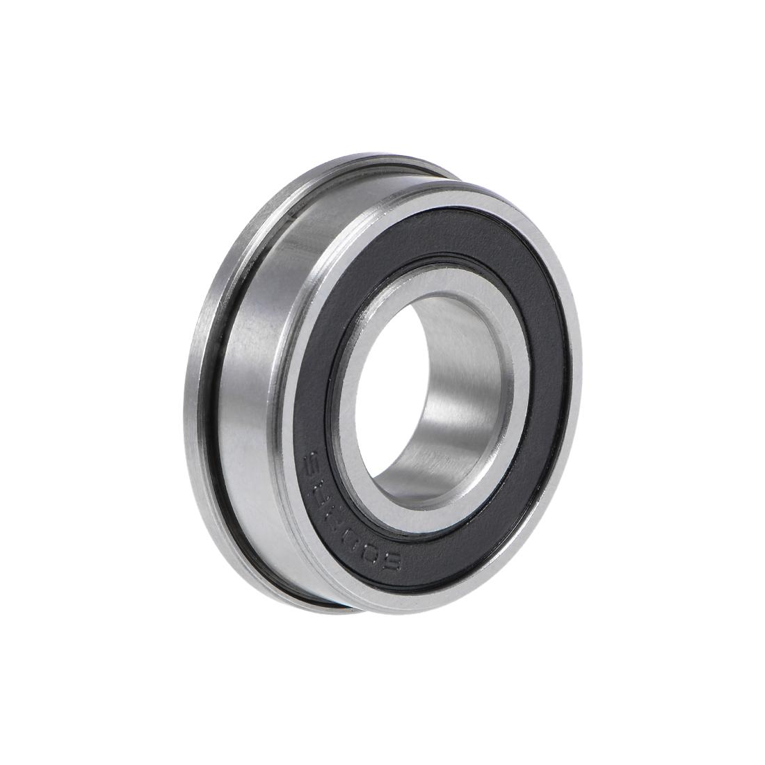 F6002-2RS Flange Ball Bearing 15x32x9mm Sealed Chrome Bearings