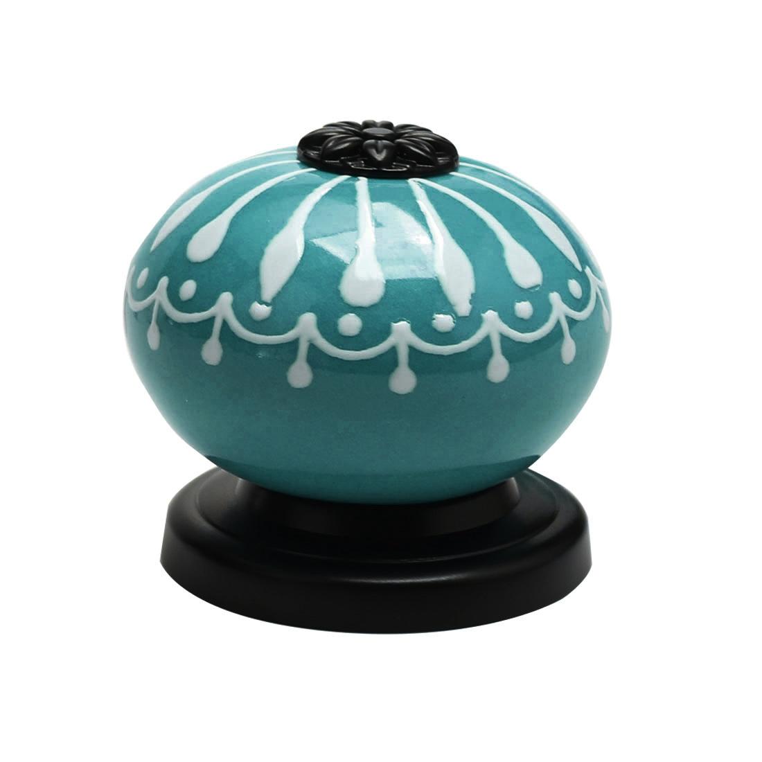 Ceramic Knob Pull Handle Dresser Cupboard Wardrobe Cabinet Door Accessories Blue