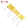Polypropylene Capacitors DIP 275VAC 0.0022uF 0.022uF 0.22uF 15 Pcs