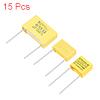 Polypropylene Capacitors Assortment Kit DIP 275VAC X2 MKP 0.15uF 15 Pcs