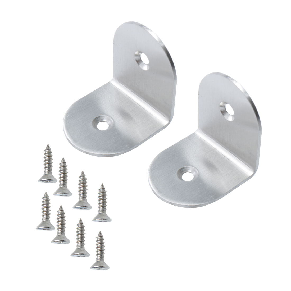 Right Angle Bracket Stainless Steel Brace Fastener Support w Screw 40x40mm, 2pcs