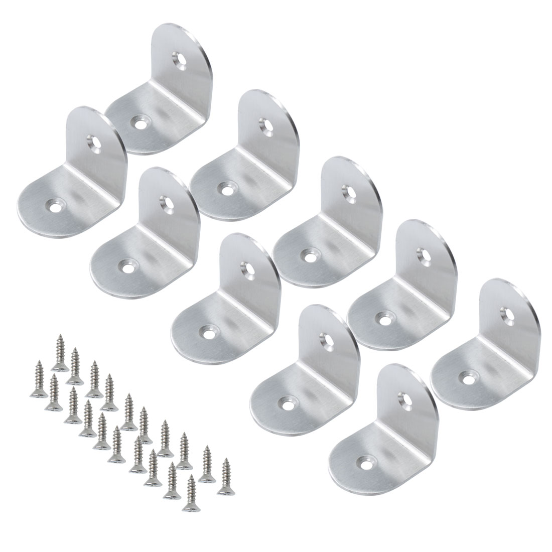 Angle Bracket Stainless Steel Brace Fastener Support w Screw 40x40mm, 10pcs