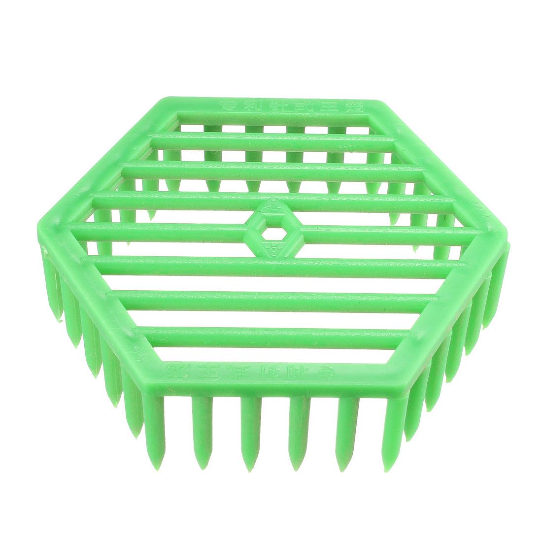 Bee Queen Cage Beekeeping Tool Plastic Equipment Hexagonal,Green 2.48inch Length