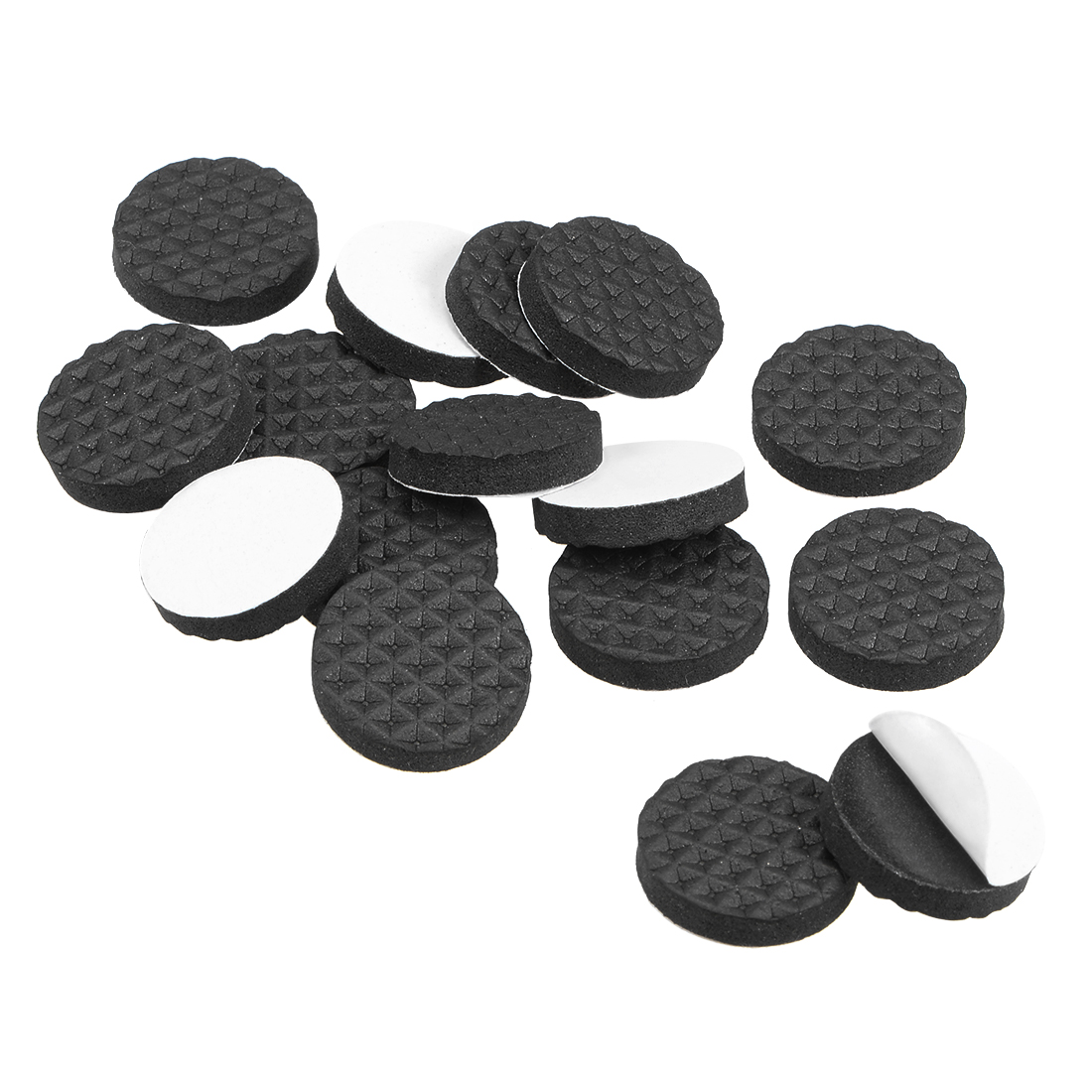 Furniture Pads Adhesive Rubber Pads 20mm Dia 4mm Thick Round Black 36Pcs