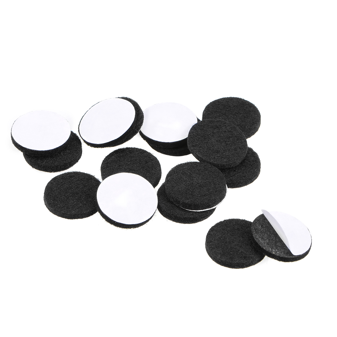 Furniture Pads Adhesive Felt Pads 20mm Diameter 3mm Thick Round Black 16Pcs