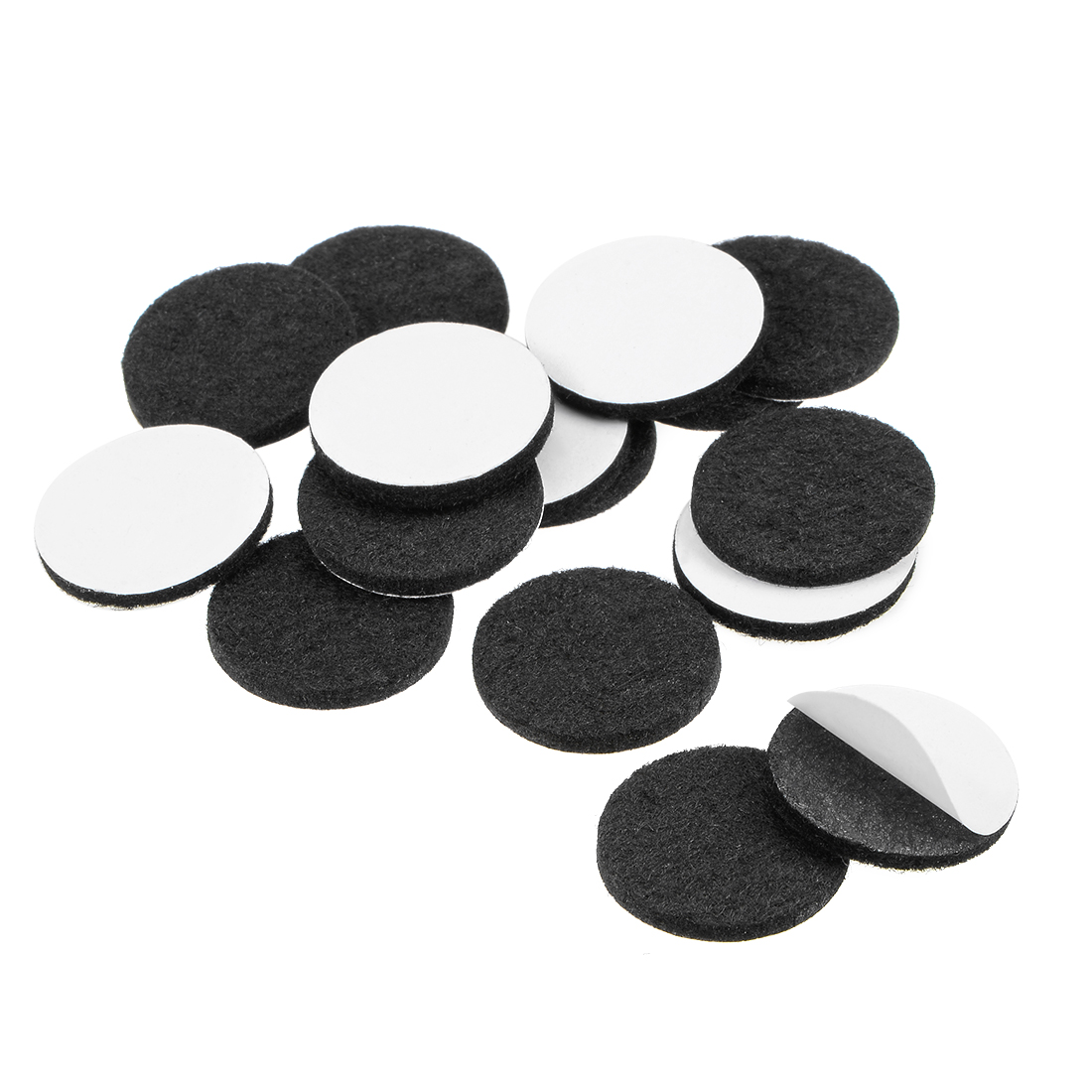 Furniture Pads Adhesive Felt Pads 25mm Diameter 3mm Thick Round Black 16Pcs