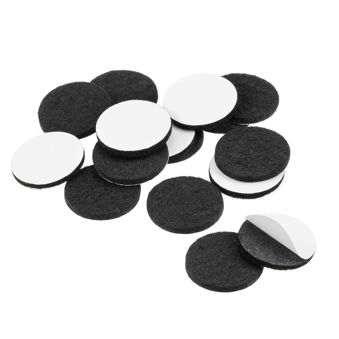Furniture Pads Adhesive Felt Pads 25mm Diameter 3mm Thick Round Black 48Pcs