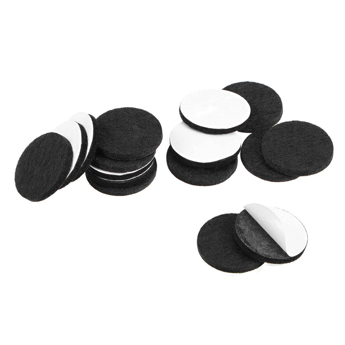 Furniture Pads Adhesive Felt Pads 30mm Diameter 3mm Thick Round Black 28Pcs