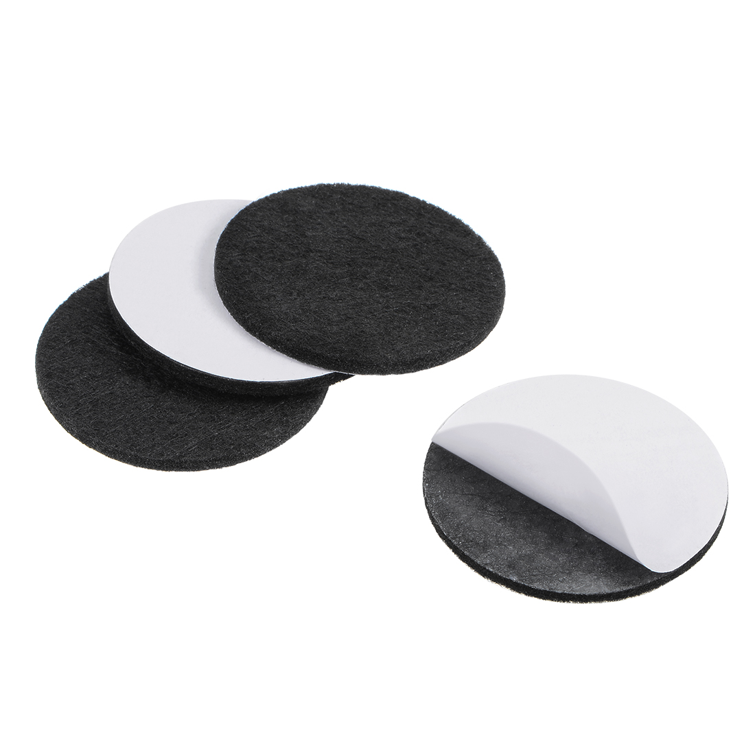 Furniture Pads Adhesive Felt Pads 50mm Diameter 3mm Thick Round Black 4Pcs