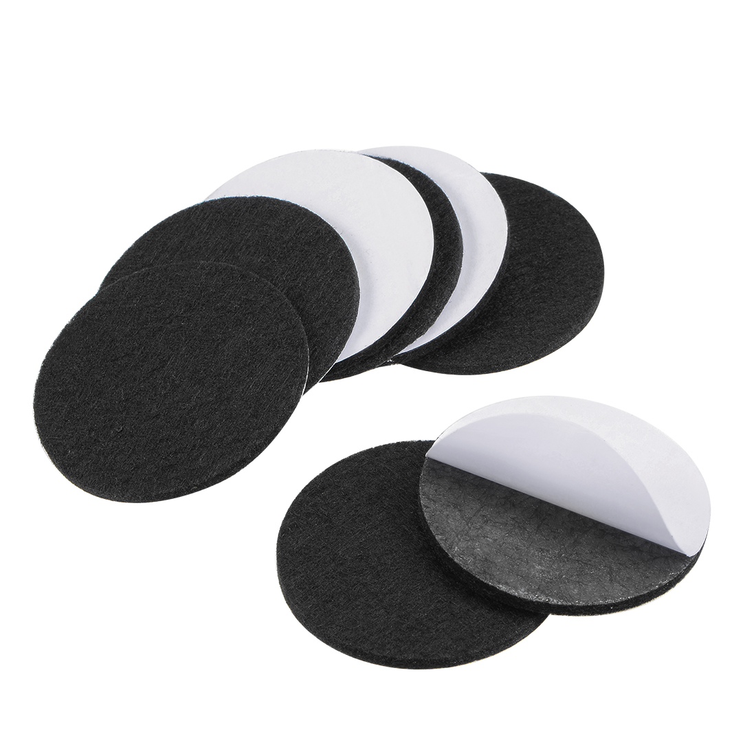 Furniture Pads Adhesive Felt Pads 50mm Diameter 3mm Thick Round Black 8Pcs