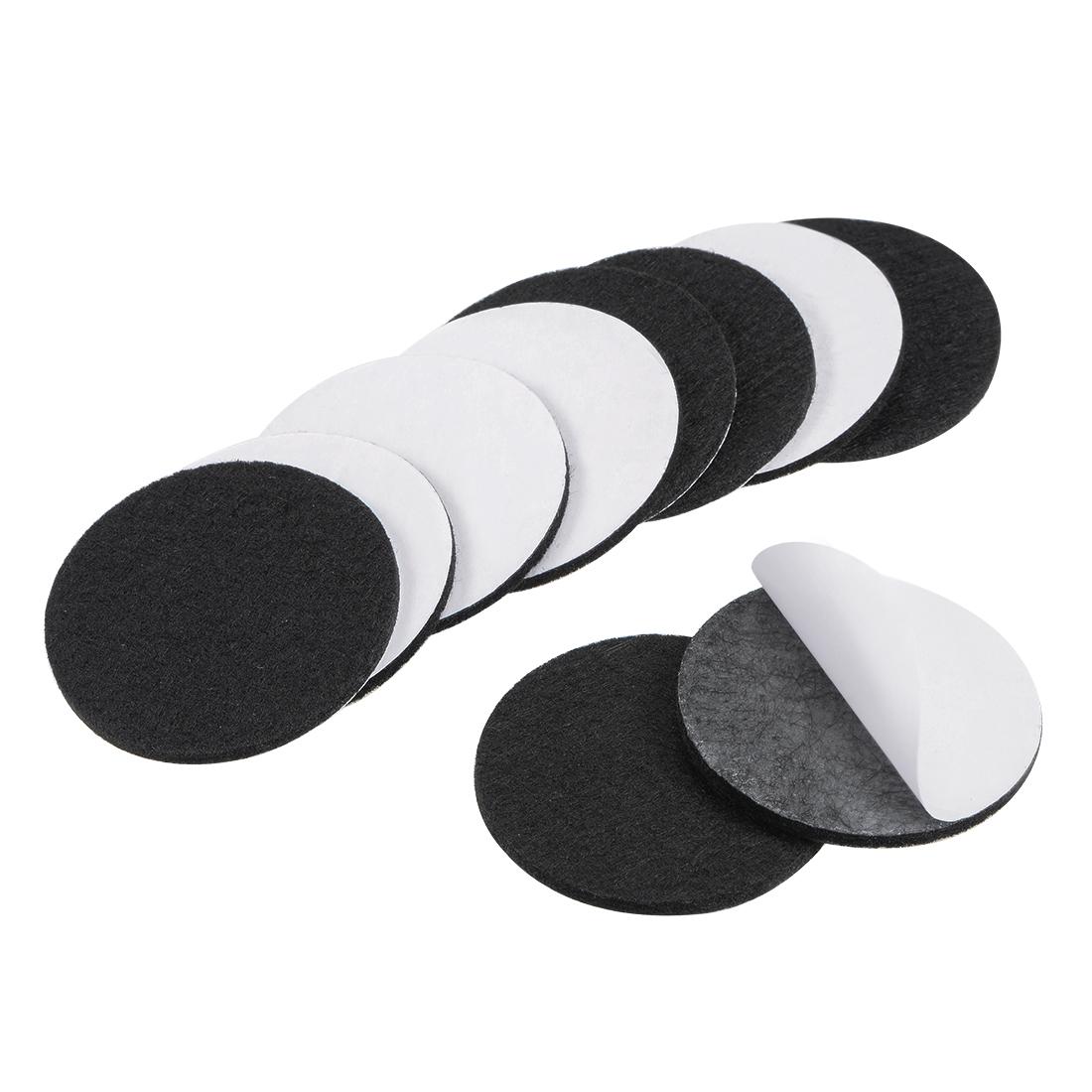 Furniture Pads Adhesive Felt Pads 50mm Diameter 3mm Thick Round Black 10Pcs