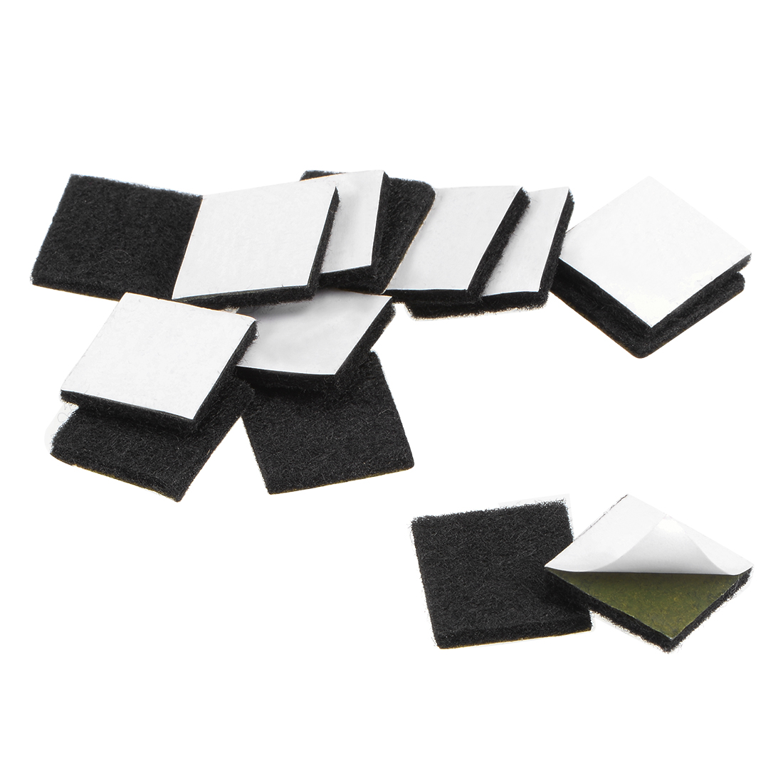 Furniture Pads Adhesive Felt Pads 20mm x 20mm Square 3mm Thick Black 36Pcs