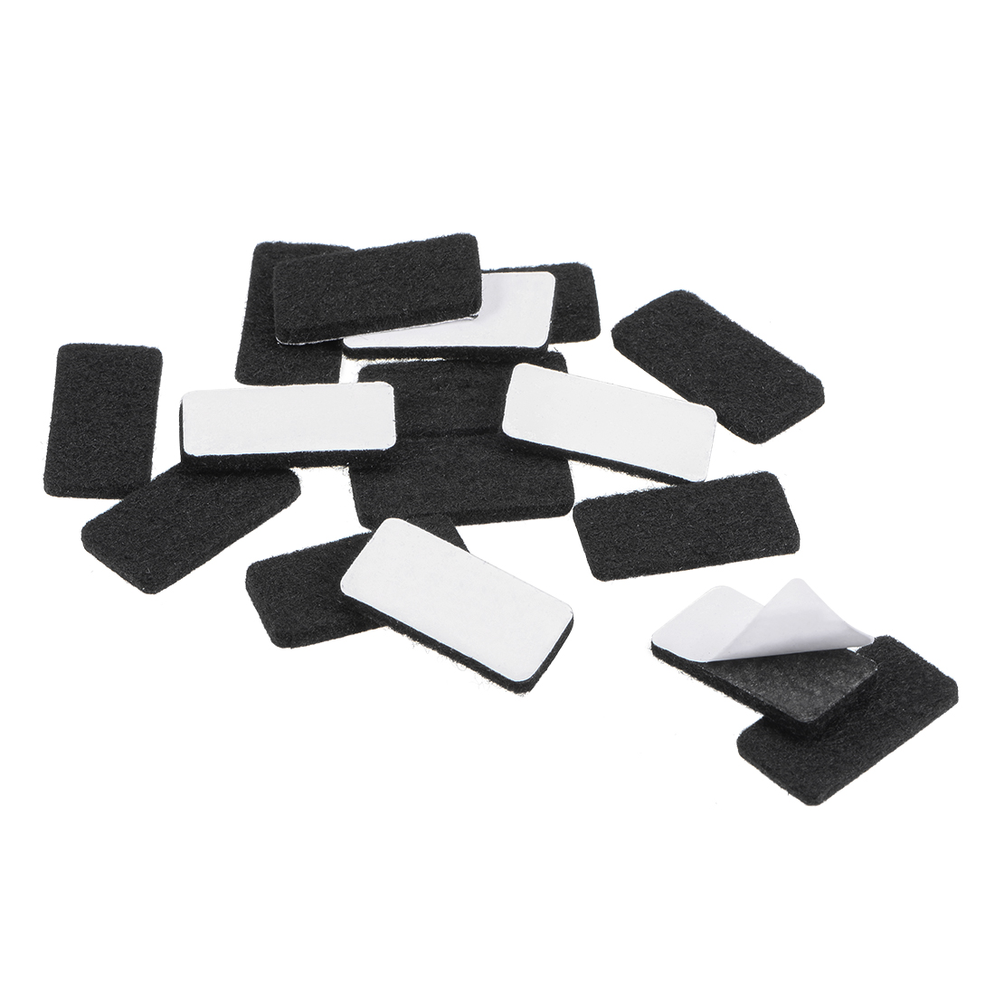 Furniture Pads 30mm x 15mm Adhesive Felt Pads 3mm Thick Black 28Pcs